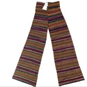 Zara Knit  Brown Striped High Waist Palazzo Pants